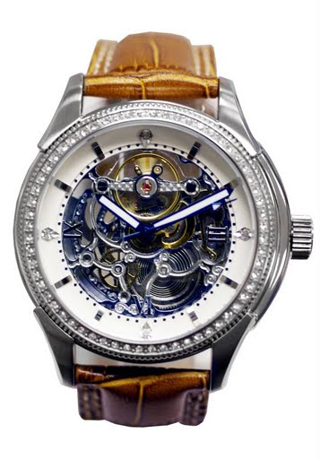 Lenzburg� Swiss Design Skeleton Automatic Watch